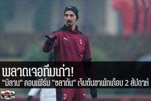 """พลาดเจอทีมเก่า! """"มิลาน"""" คอนเฟิร์ม """"ซลาตัน"""" เจ็บต้นขาพักเกือบ 2 สัปดาห์ #เว็บไซด์กีฬา #กีฬาทั่วไป #เกาะติดข่าวกีฬา #ซลาตัน อิบราฮิโมวิช #เอซี มิลาน #พลาดลงสนามดวลทีมเก่า #แมนเชสเตอร์ ยูไนเต็ด #ยูฟ่า ยูโรปา ลีก #รอบ 16 ทีมสุดท้าย #นัดแรก"""